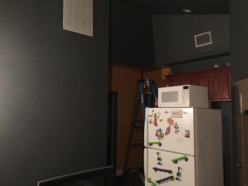 Photo of Metric Post lobby during remodeling.